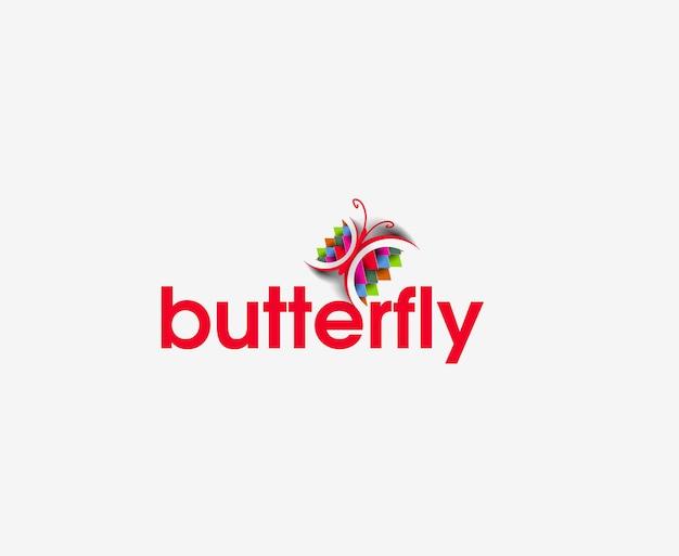 Icone web farfalla e logo vettoriale