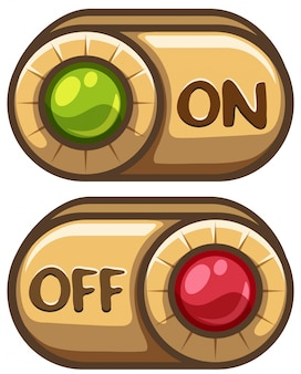 Disegno del pulsante per accendere e spegnere
