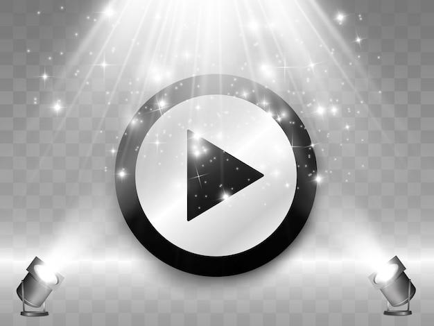 Pulsante. pulsante di riproduzione. riproduci video.