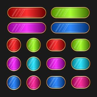Illustrazione della gui dell'interfaccia utente del gioco progettata per il set di pulsanti per i computer dei videogiochi