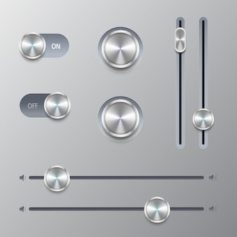 Set controllo volume pulsante