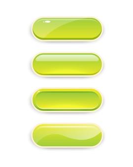 Pulsanti per giochi mobili. design del gioco dell'interfaccia utente.
