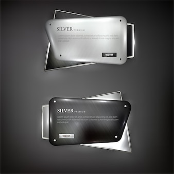 I pulsanti impostano la forma del web in acciaio sul colore di sfondo nero 3