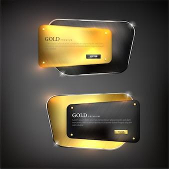 I pulsanti impostano l'acciaio a forma di web sul colore di sfondo nero