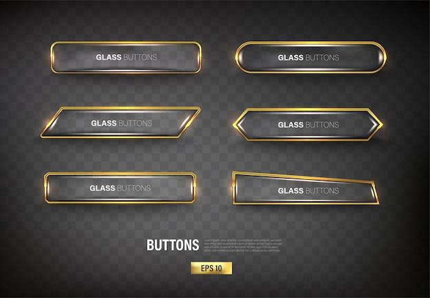 Bottoni set web acciaio su sfondo nero 12