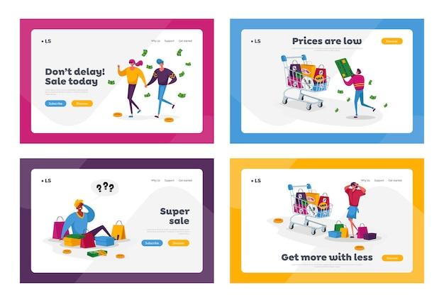 Caratteri degli acquirenti in vendita stagionale o insieme di sconti