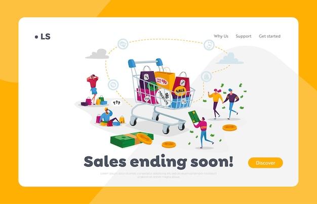 Personaggi degli acquirenti in vendita o sconto stagionale