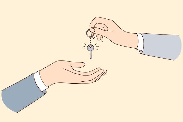 Acquisto di affitto e locazione di un concetto di alloggio