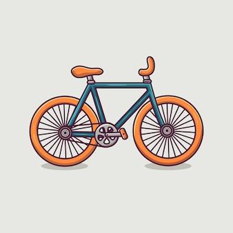 Illustrazione del fumetto dell'icona della bicicletta