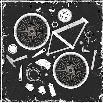 Parti del set di biciclette