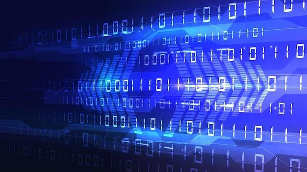 Byte di zeri e unità binarie passano attraverso la rete. rete digitale ad alta tecnologia, comunicazioni, alta tecnologia. env 10.