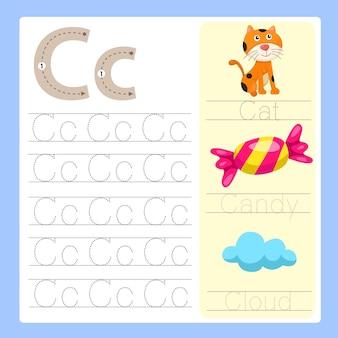 C vocabolario dei cartoni animati di esercizio