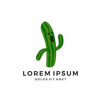 Logo mascotte personaggio cactus