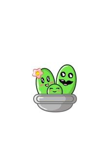 Famiglia di cactus illustrazione vettoriale