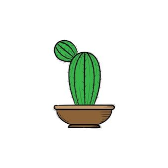 Disegno vettoriale di schizzo di illustrazione disegnata a mano del cactus