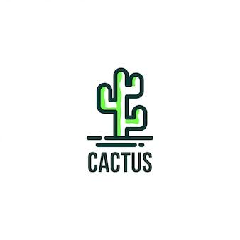 Modello di vettore di logo di cactus