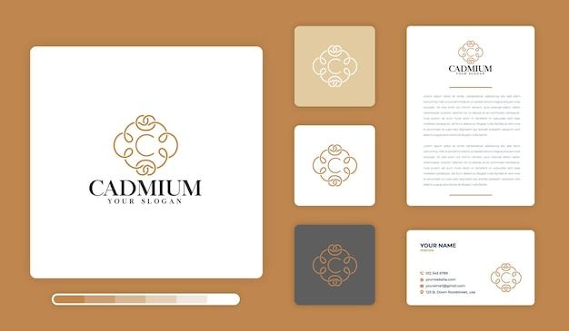 Modello di progettazione di logo di cadmio