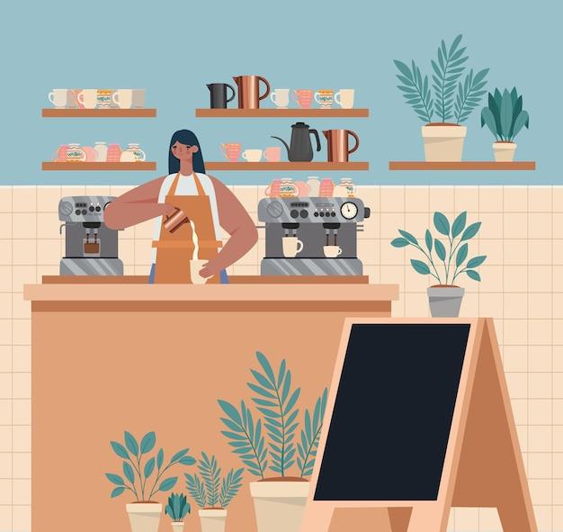 Illustrazione del negozio di caffè