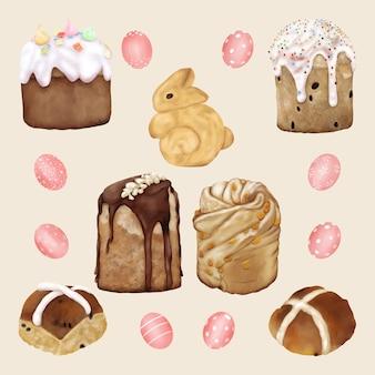 Torta e dolci per le vacanze di pasqua