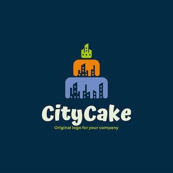 Modello di progettazione del logo del negozio di dolci