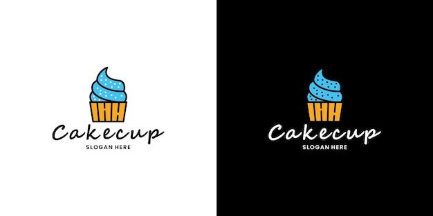 Negozio di torte negozio online logo design ristorante culinario