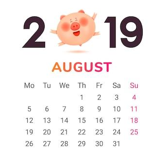 Calendario per il 2019.