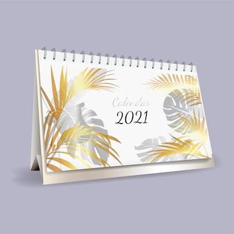 Vettore di progettazione del modello di calendario 2021