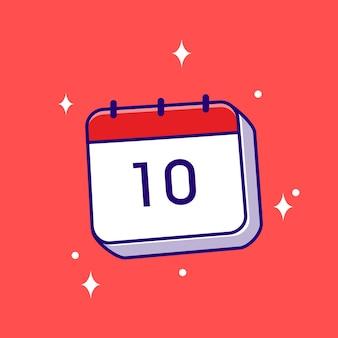 Illustrazione del calendario vettore icona piatto cartone animato concept