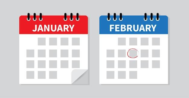 Calendario segna la data e il programma