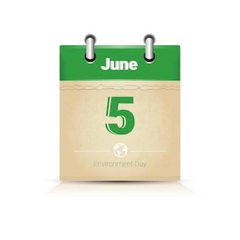 Calendario pagina 5 giugno giornata mondiale dell'ambiente