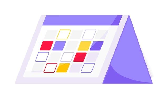 Calendario pianificazione pianificazione business concetto illustrazione vettoriale