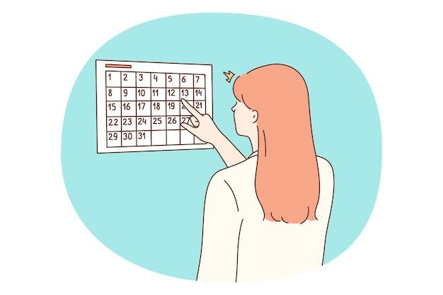 Calendario, gestione del tempo, concetto di pianificazione personale.