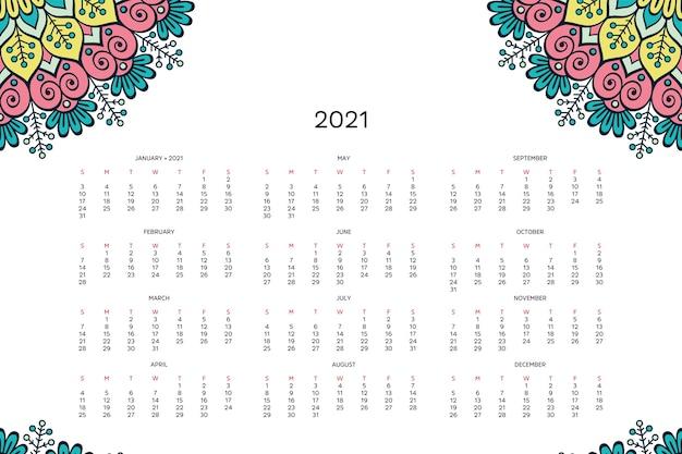 Calendario con mandala.