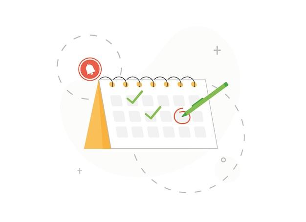 Calendario con data selezionata in design piatto