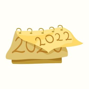 Calendario con un anno. illustrazione vettoriale in stile piatto
