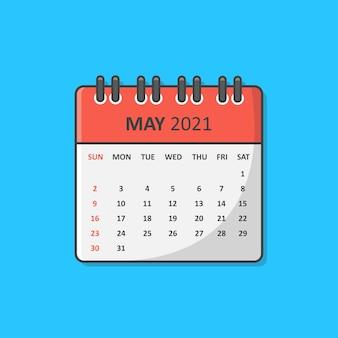 Calendario per l'anno isolato sull'azzurro
