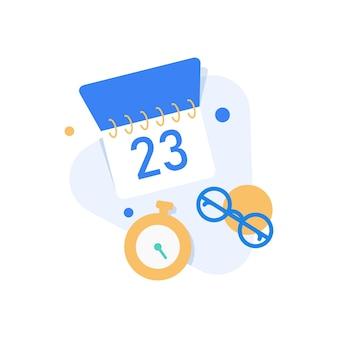 Calendariopianificazione e organizzazione delle attività a bordoillustrazione del concetto del piano d'azione