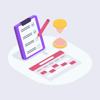 Elenco di controllo del calendario perfetto per l'agenda delle note di promemoria dell'appuntamento