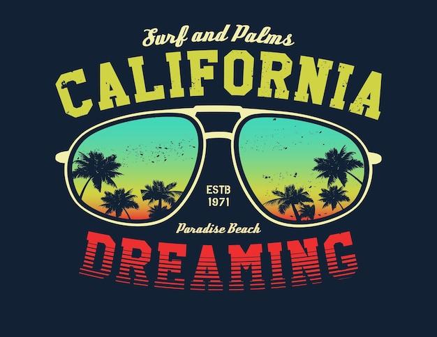 Maglietta del surfista della california