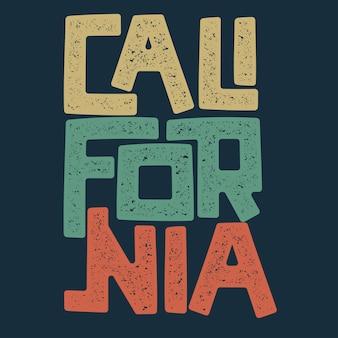 Grafica t-shirt california. i surfisti indossano il timbro. emblema di tipografia di sport.