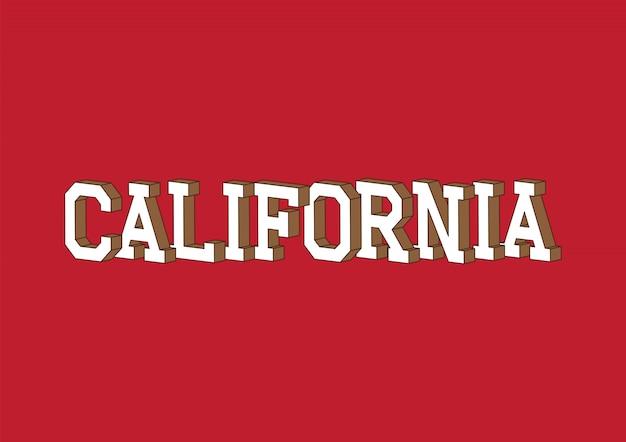 Testo della california con effetto isometrico 3d