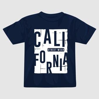 Design della maglietta vettoriale della california
