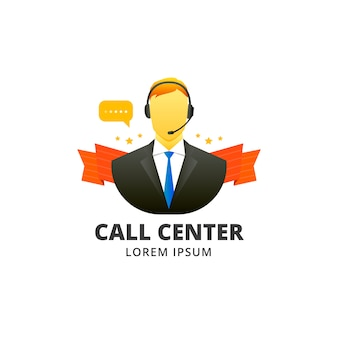 Logo dell'operatore uomo call center