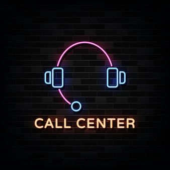 Call center neon.