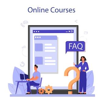 Servizio o piattaforma online di call center.