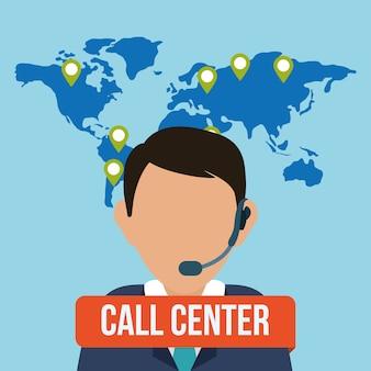Icone del servizio di call center