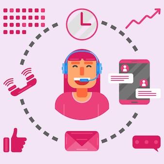 Call center vector logo icona illustrazione