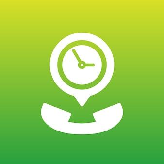 Icona del vettore della durata della chiamata per le app