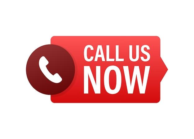 Chiamaci ora. tecnologie dell'informazione. icona del telefono. assistenza clienti. illustrazione di riserva di vettore.
