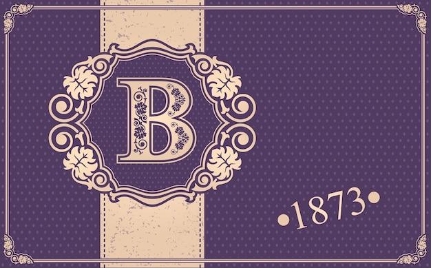 Illustrazione calligrafica b.